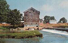 ROANN~WABASH COUNTY INDIANA OLD STOCKDALE WATER POWER FLOUR MILL POSTCARD 1960s