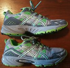 Asics T383N Gel Venture 4 Women's Trail Running Shoes Size 8.5 Excellent Green
