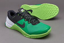 Nike Metcon 2 gym cross fit baskets pour homme vert uk 9 eur 44 neuf