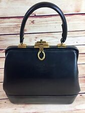 Vintage Fassbender LONDON Leather DOCTOR BAG Hand Bag Purse GREAT CLASP