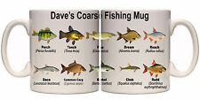 COARSE FISHING SPECIES PERSONALISED MUG WITH NAME (SP11) OTHER MUGS AVAILABLE