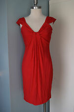 London Times women dress size Small cherry red shift sundress Excellent cocktail