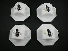 FRANCE ARCOPAL OCTAGON VINTAGE WHITE DINNERWARE SERVICE Lot of 8