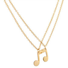 Lux Eighth Note Music Symbol BFF Best Friends Forever Necklace Set (2 PC)