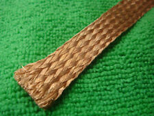 "1mX18mm 0.8"" Copper Braided Shielded Circle Flat Cover flexible Sleeve"