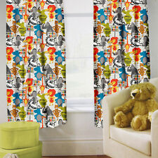 "Born Free Children's Kids Curtains 66"" by 54"" + Tiebacks Nursery Bedding Blinds"