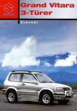 Prospekt 2004 Suzuki Grand Vitara 3 Türer Zubehör 4 04 brochure Auto Pkw Japan