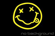 Nirvana Smiley Face Sticker Vinyl Decal - Mgk Kurt Cobain Music Car Window Rock
