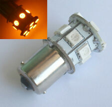 1156 BAU15S 13 SMD 5050 Amber / Yellow Tail Turn Signal 13 LED Car Light Bulb