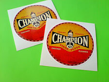 CHAMPION Distressed Look Classic Retro Vintage Car Decals Stickers 2 off 75mm