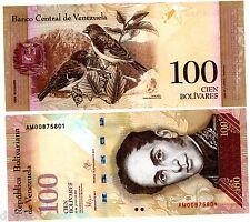 VENEZUELA Billet 100 BOLIVARES 2015 P93  OISEAUX / SIMON BOLIVAR UNC NEUF
