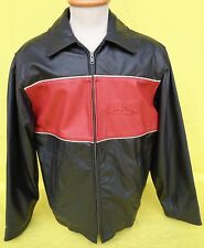 LUND Fishing Boats Mens Leather Jacket Made in Canada Tag Small Actual Medium