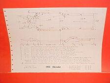 1972 CHEVROLET IMPALA CAPRICE BELAIR STATION WAGONS VEGA FRAME DIMENSION CHART