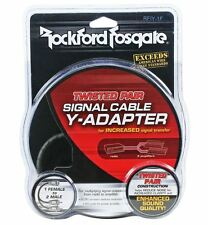 Rockford Fosgate RFIY-1F Twisted Pair RCA OFC 1 Female to 2 Male Y-Adapter Cable