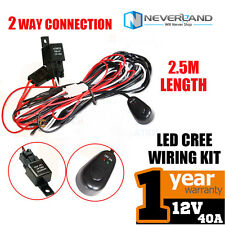 1X 12V Wiring Harness kit for Car Van ATV Work LED Light Bar With Fuse Relay