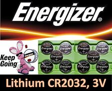 10 pieces Energizer CR2032 3v, Lithium battery, **Fresh stock**, Ships from USA