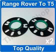 Range Rover to VW T5 5mm Hubcentric Alloy Wheel Spacer Fitting Kit 72.6 - 65.1