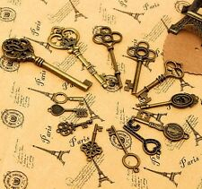 36pcs Metal Retro Vintage Keys of Assorted Styles DIY Accessories Old Antique