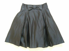 NEW Milly of New York 1950s vintage style black satin skirt Net underskirt UK 10
