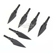 6Pcs Black Broadheads Crossbow Compound Bow Arrow Head Tips Bolts 125grn Hunting