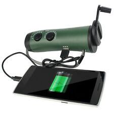 Portable Hand Crank Emergency Flashlight FM/AM Siren Radio &Cell Phone Charger