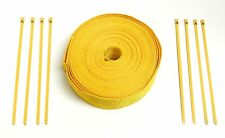 50FT UNIVERSAL YELLOW HEAT WRAP W/ 8 YELLOW STEEL TIES FOR POLARIS SLINGSHOT