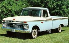 Old Photo.  White 1966 Ford F-100 Pickup