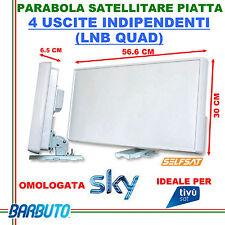 ANTENNA SATELLITARE PIATTA 4 USCITE QUAD SELFSAT H21D4-IT 34,5dB OMOLOGATA SKY