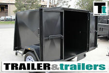 6x4 Heavy Duty Van Enclosed Trailer 4ft High Luggage Trailers *NEW TYRES*
