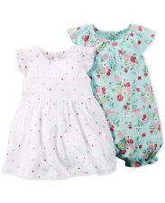EASTER Carter's Baby Girls' 2-Pack Polka Dot Dress & Floral Romper Set 24 Months