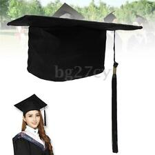 Black Mortar Board Adults Graduation Ceremony Hat Cap Fancy Dress Accessory