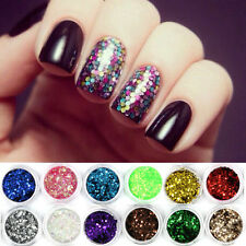 18 Colors DIY Nail Art Glitter Set Big Hexagon Sequins Decoration for Gel Polish
