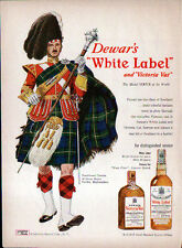 1949 DEWAR'S WHITE LABEL AD- GORDON HIGHLANDER