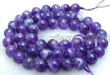 "SALE Small 8mm Round Natural Amethyst gemstone loose beads strand 15"" -los355"