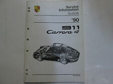 1990 Porsche 911 Carrera 4 Service Information Technik Manual Factory OEM Book