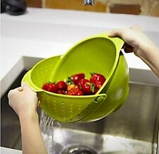 kitchen wash rice plastic Strainer Drain vegetable & Fruit  basket