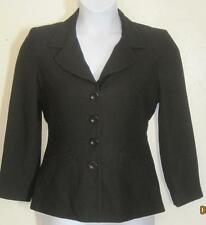Bebe misses sz 8 black suit jacket blazer j122