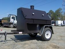 BBQ PIT SMOKER concession grill utility 8ft trailer NEW hog box 500