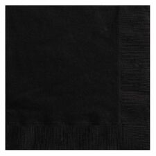 Halloween Party Ideas - 6.5 Inch Paper Napkins (Black, Pack of 20) FREE P&P UK