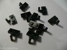 Lego 10 plates mod noires set 6079 6246 7261 6285  /10 black plate with arm