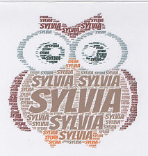 PERSONALISED OWL BIRTHDAY / XMAS CARD WITH 'MOVING' EYES - BOY/GIRL/BROWNIES