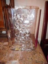 MID CENTURY MODERNIST SPIEGELAU  BLOWN BUBBLE GLASS VASE W/ RAYMOR LABEL