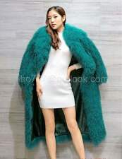 Exquisite tibetan mongolian lamb long curly hair/sheep skin fur coat jacket
