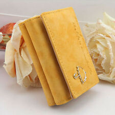 New Women's Fashion Leather Wallet Button Clutch Purse Lady Short Handbag Bag