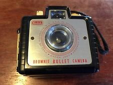 Vintage Kodak Brownie Bullet Camera with Strap and Dakon Lens Very Clean LOOK!
