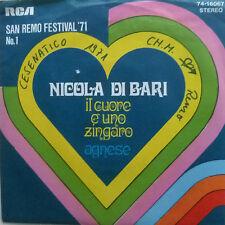"""7"""" 1971 ! NICOLA DI BARI : Il Cuore E Uno Zingaro /VG+"""