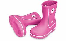 NEW CROCS CROCBAND JAUNT GIRLS RAIN BOOTS FUSCHIA KIDS US J 3    $34.99