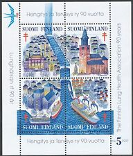 Finland 1997 MNH sheet - 4 different official Christmas seals Anti-Tuberculosis