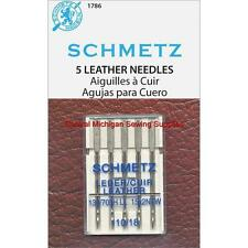 Schmetz Leather Needles Size 18 Fits Singer Models 15, 27, 28, 66, 99, 201, 221
