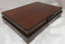 Vintage Tarnish Resistant Wood Silverware Flatware Wooden Storage Chest Box 76
